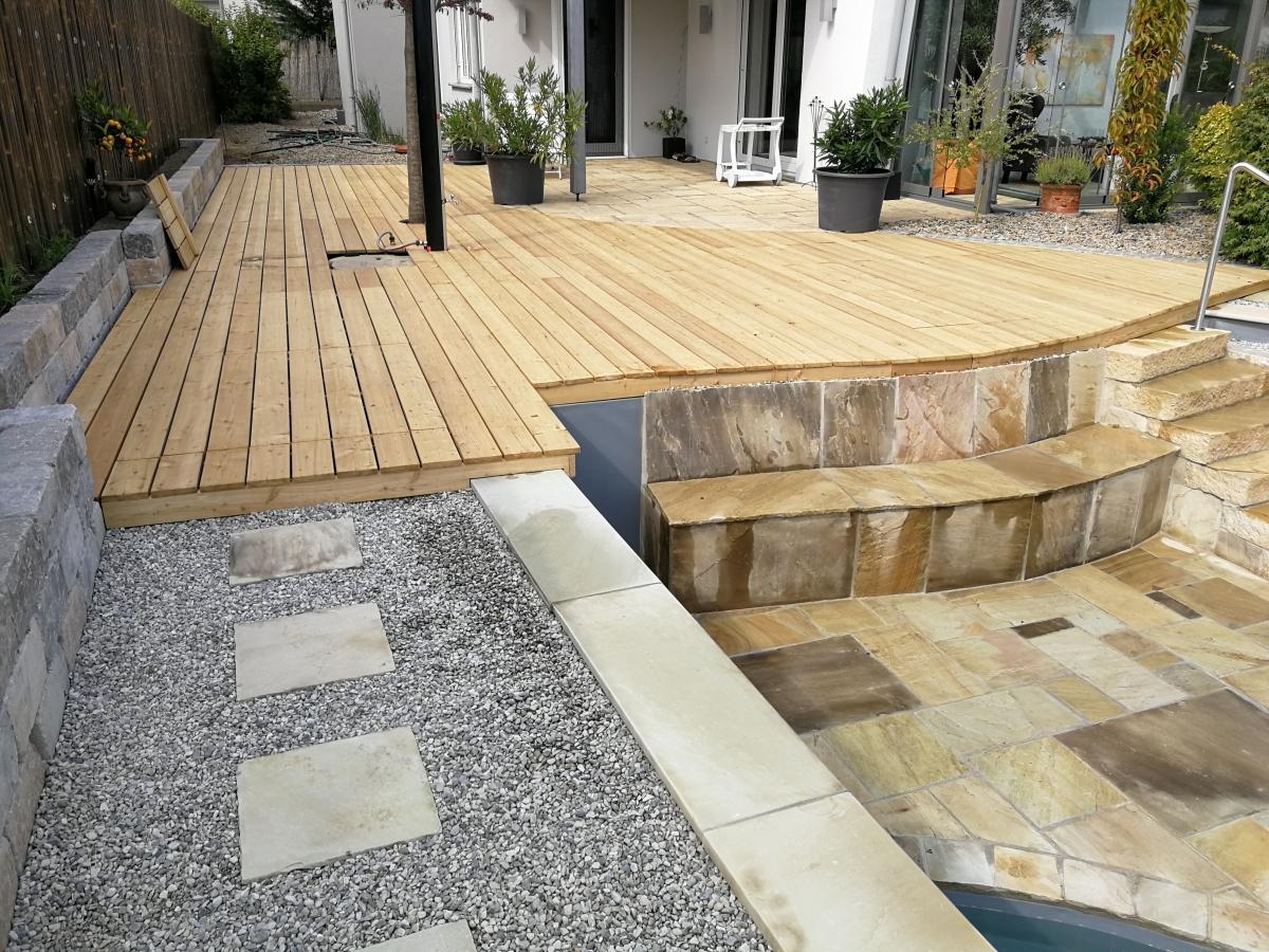 Holz im Garten – Gartengestaltung Grabher